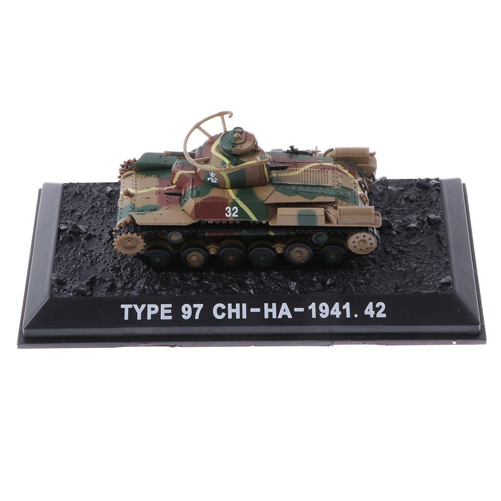 MagiDeal 1/72 Diecast Tank Japan Type 97 Chi-Ha 1941 WWII Military Model Toy