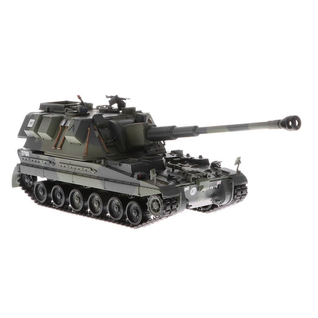MagiDeal 1:72 Scale British AS90 Battle Tank Panzer Tank Army Vehicle Model