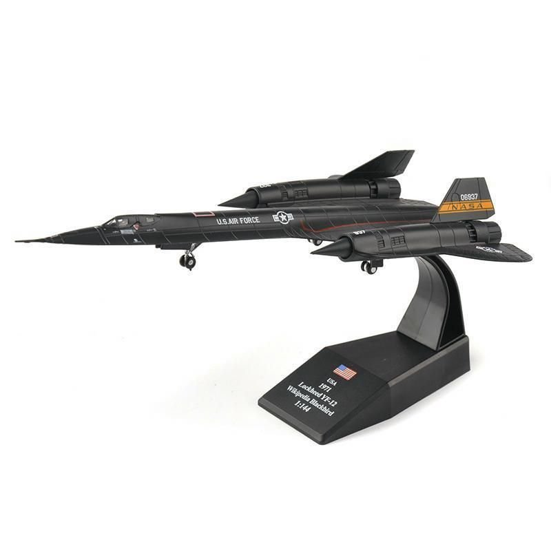 1:144 Sr-71 Blackbird Reconaissance Aircraft Model Toy Diecast Alloy Fighter Toy