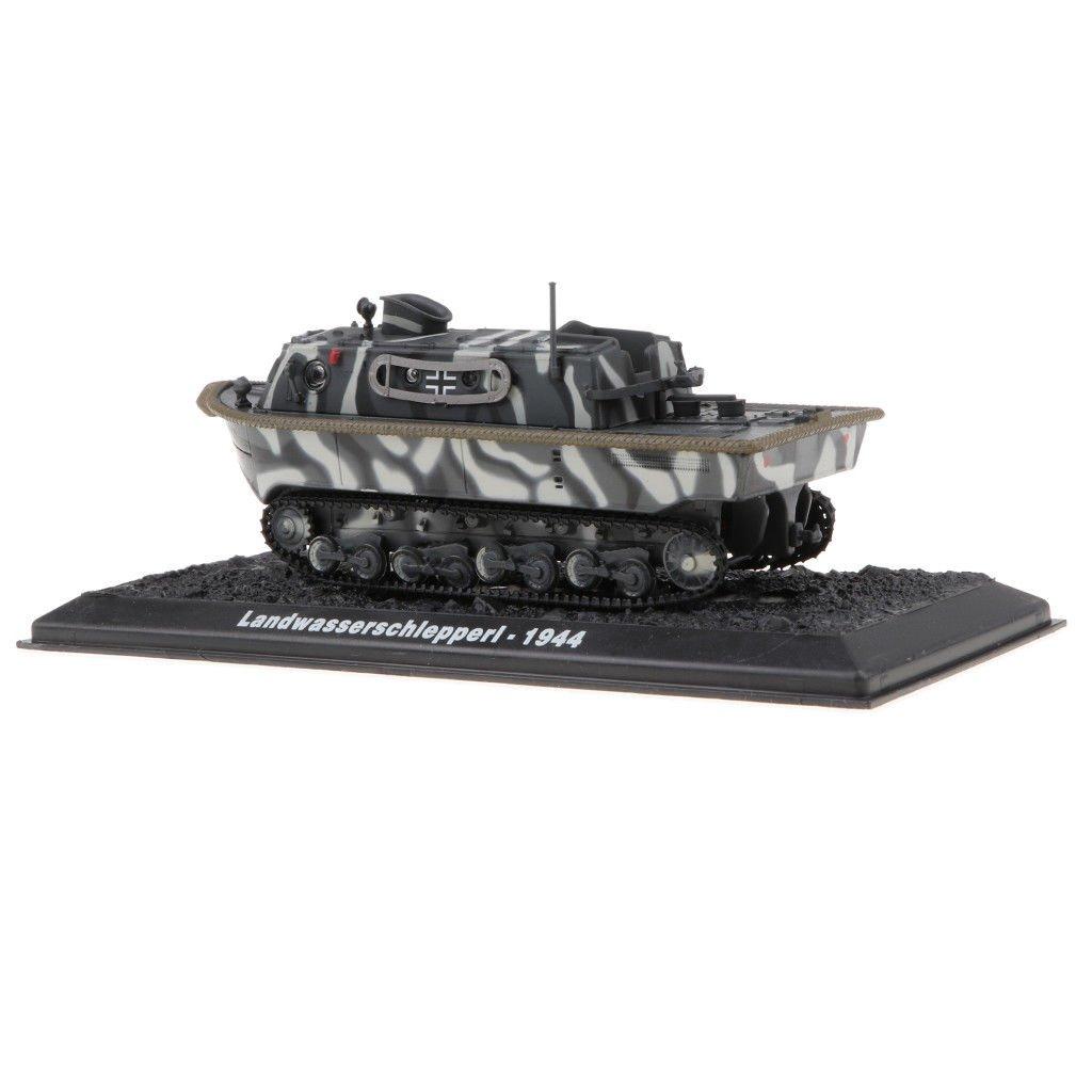 MagiDeal 1:72 Alloy German Landwasserschl<wbr/>epper I Tank Army Vehicle Model