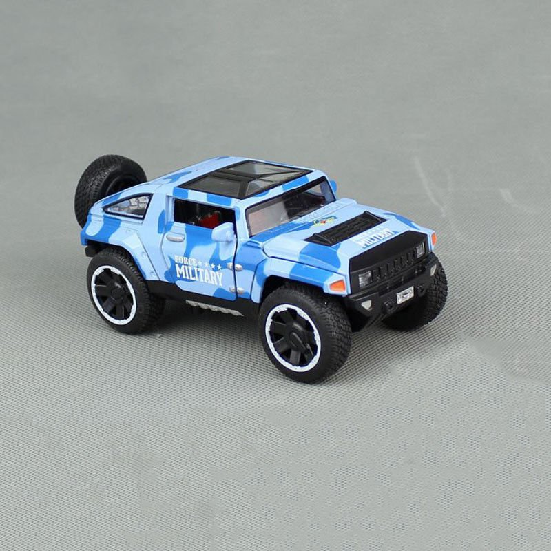 1:32 Hummer HX Military Force Car Model Toy Vehicle Alloy Diecast Blue Gift
