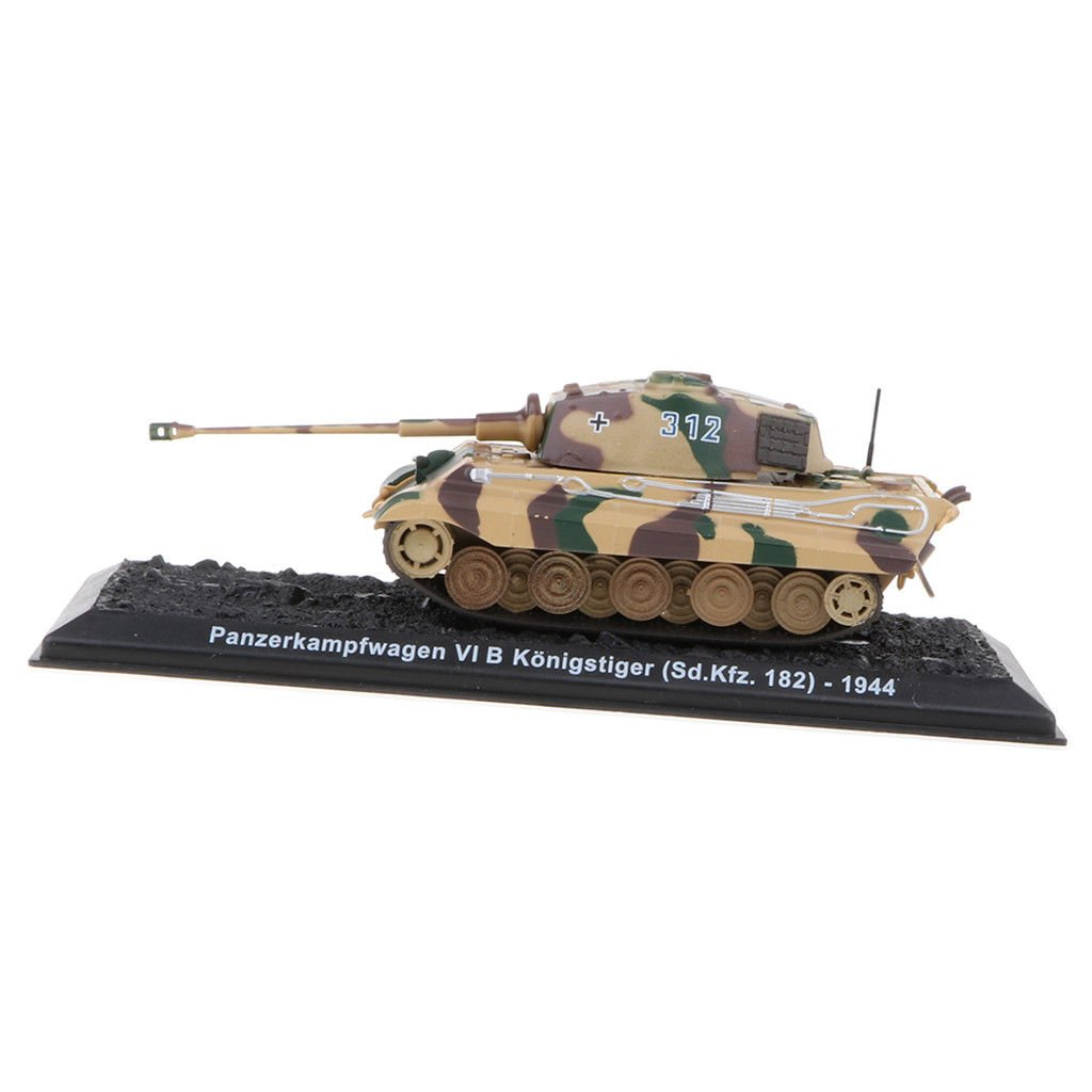 German Tiger Battle Tank 1:72 Scale WWII Military Vechile Model with Base