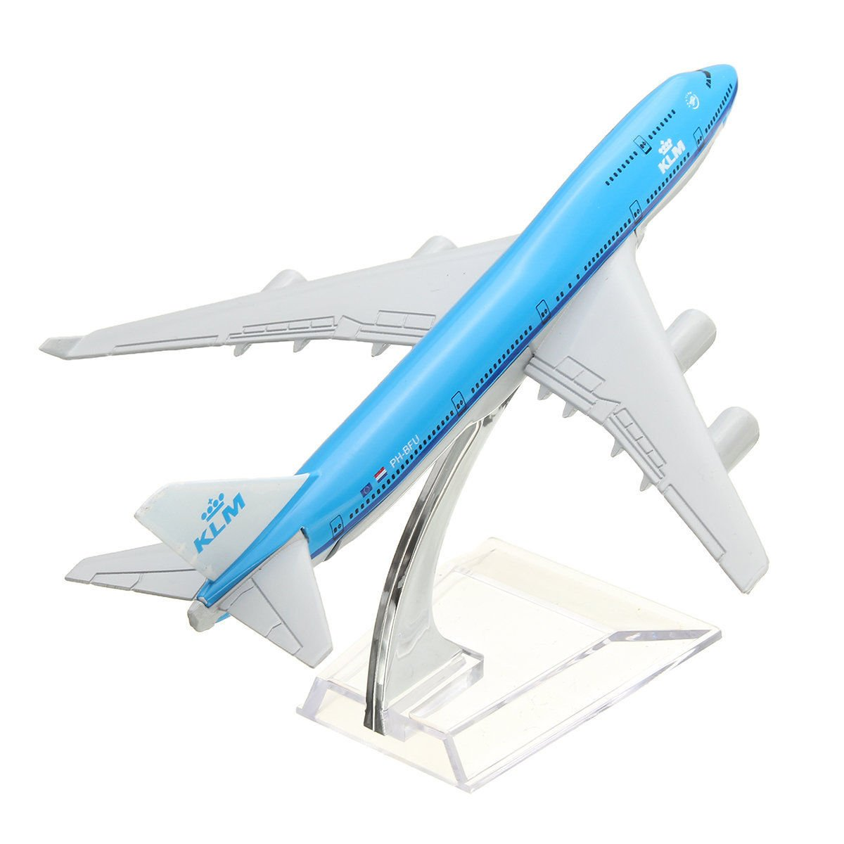 NEW 16cm Airplane Metal Plane Model Aircraft B747 KLM Aeroplane Scale Airplane