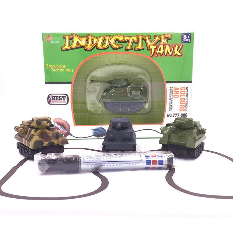 NEW 1PC Magic Toy Tank Inductive Car Construction Cars Tank Free Shipping
