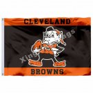 Cleveland Browns New Wordmark Flag 3ft x 5ft Polyester NFL Cleveland Browns Bann