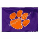 Clemson Tigers Flag 3ft x 5ft Polyester NCAA Clemson Tigers Banner Flying Size N