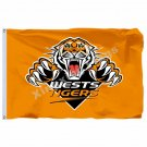 Wests Tigers Flag 3ft X 5ft National Rugby League NRL Banner Size 4 144* 96cm Fl