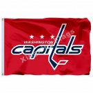 Washington Capitals Large Logo Flag 3ft x 5ft Polyester NHL Banner Washington Ca