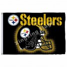 Pittsburgh Steelers New Wordmark Flag 3ft X 5ft Polyester NFL1 Pittsburgh Steele