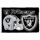 Oakland Raiders New Wordmark Flag 3ft X 5ft Polyester NFL1 Oakland Raiders Banne