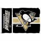 Pittsburgh Penguins Wordmark Flag 3ft X 5ft Polyester NHL Banner Pittsburgh Peng