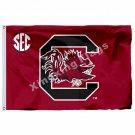 South Carolina Gamecocks Nation Flag 3ft x 5ft Polyester NCAA Banner Flying Size