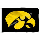 Iowa Hawkeyes Flag 3ft X 5ft Polyester NCAA Banner Iowa Hawkeyes Flying Size No.