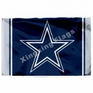 Dallas Cowboys Column Flag 3ft X 5ft Polyester NFL1 Dallas Cowboys Banner Flying