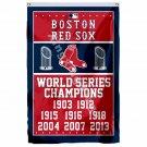 Boston Red Sox World Series Champions Flag 3ft X 5ft Polyester MLB Banner Flying