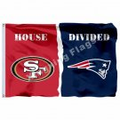 San Francisco 49ers England Patriots House Divided Flag 3ft X 5ft Polyester NFL
