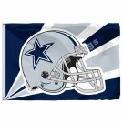 Dallas Cowboys Helmet Lighting Flag 3ft X 5ft Polyester NFL Dallas Cowboys Banne