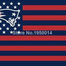 New England Patriots US flag with star and stripe 3x5 FT Banner Polyester NFL fl
