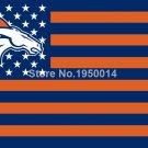 Denver Broncos Flag USA With Stars and Stripes NFL Flag 3x5 ft custom Banner 90x
