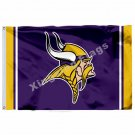 Minnesota Vikings Column Flag 3ft X 5ft Polyester NFL Minnesota Vikings Banner F