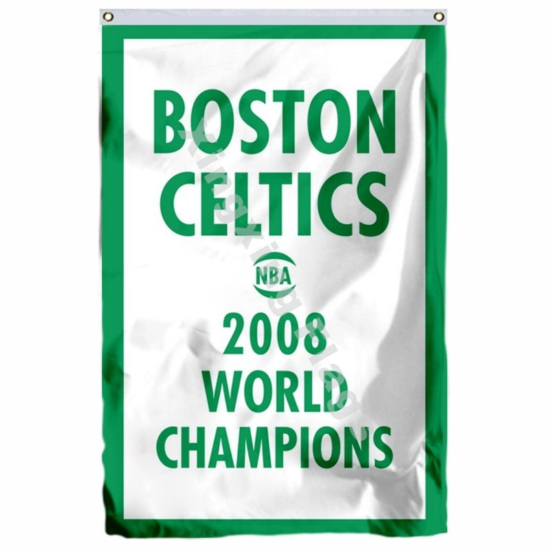 Boston Celtics 2008 World Champions Flag 3ft X 5ft Polyester NBA1 Team Banner Fl