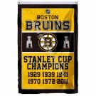 Boston Bruins Stanley Cup Champions Flag 3ft X 5ft Polyester NHL Banner Flying S