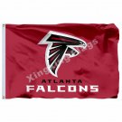 Atlanta Falcons Wordmark Flag 3ft X 5ft Polyester NFL1 Team Banner Flying Size N