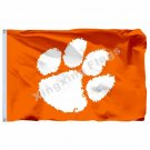 Clemson Tigers Nation Flag 3ft X 5ft Polyester NCAA Banner Flying Size No.4 90*1
