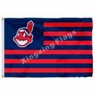 Cleveland Indians Nation Flag Stripe 3ft X 5ft Polyester MLB Cleveland Indians B