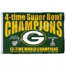 Green Bay Packers Super Bowl XXXI Flag 3ft x 5ft Polyester NFL Team Banner Flyin