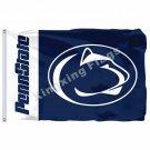 Penn State Nittany Lions Wordmark Flag 3ft X 5ft Polyester NCAA Banner Penn Stat