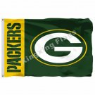 Green Bay Packers Wordmark Flag 3ft X 5ft Polyester NFL1 Green Bay Packers Banne