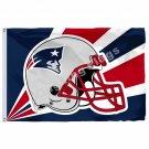 New England Patriots Helmet Lighting Flag 3ft X 5ft Polyester NFL New England Pa