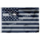 NFL Seattle Seahawks flag banner with modified US Flag 3ft x 5ft Polyester Flyin