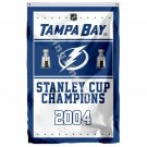 Tampa Bay Lightning Stanley Cup Champions Flag 3ft X 5ft Polyester NHL Banner Fl