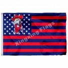 Mississippi Rebels Ole Miss Nation Flag 3ft X 5ft Polyester NCAA Banner Flying S