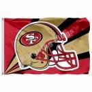 San Francisco 49ers Helmet Lighting Flag 3ft X 5ft Polyester NFL1 San Francisco