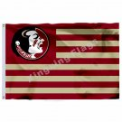 Florida State Seminoles With Modified US Flag 3ft X 5ft Polyester NCAA Banner Fl