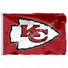 Kansas City Chiefs Flag 3ft X 5ft Polyester NFL1 Kansas City Chiefs Banner Flyin