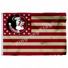 Florida State Seminoles Nation Flag 3ft X 5ft Polyester NCAA Banner Flying Size