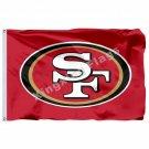 NFL San Francisco 49ers Logo Flag Banner 3ft X 5ft Polyester Flying Size No.4 90
