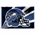 Seattle Seahawks Helmet Lighting Flag 3ft X 5ft Polyester NFL1 Seattle Seahawks