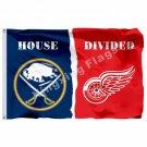 Buffalo Sabres Detroit Red Wings Flag 3ft x 5ft Polyester NHL Banner Buffalo Sab