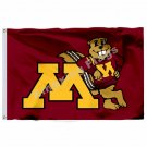 Minnesota Golden Gophers Helmet Flag 3ft x 5ft Polyester NCAA Banner Minnesota G