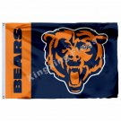 Chicago Bears Wordmark Flag 3ft X 5ft Polyester NFL1 Banner Flying Size No.4 90*