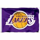 Los Angeles Lakers Flag 3ft X 5ft Polyester NBA1 Los Angeles Lakers Banner Flyin