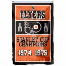 Philadelphia Flyers Stanley Cup Champions Flag 3ft X 5ft Polyester NHL Banner Fl
