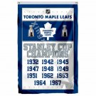 Toronto Maple Leafs Stanley Cup Champions Flag 3ft X 5ft Polyester NHL Banner Fl