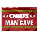Kansas City Chiefs Man Cave Flag 3ft X 5ft Polyester NFL1 Kansas City Chiefs Ban