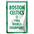 Boston Celtics 1986 World Champions Flag 3ft X 5ft Polyester NBA1 Team Banner Fl